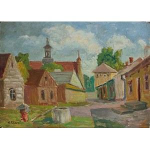 Artur Klar (1895-1942), Pejzaż z kościołem