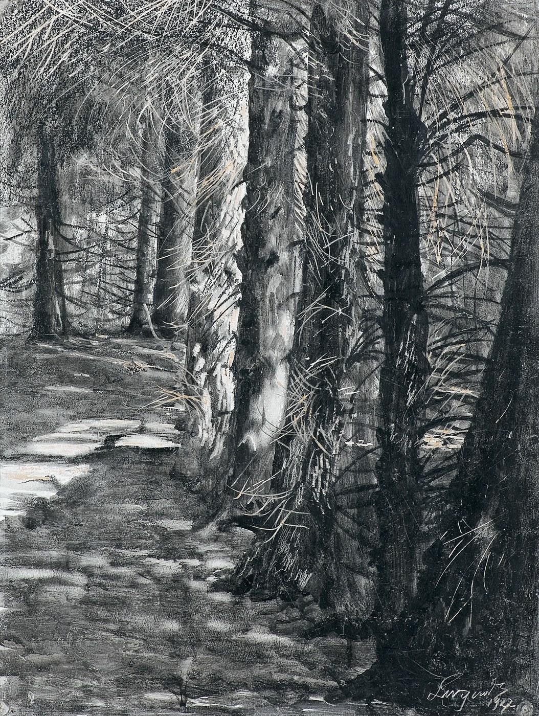 Wyczółkowski Leon, ŚCIEŻKA W PARKU W GOŚCIERADZU, 1927