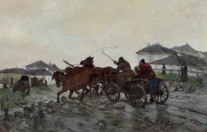Chełmoński Józef, BŁOTNISTA DROGA, 1882