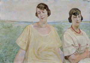 Malczewski Jacek, PORTRET ANNY SOCZYŃSKIEJ Z SIOSTRĄ AURELIĄ,1924