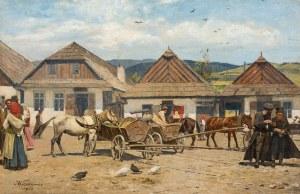 Antoni Kozakiewicz, Targ w miasteczku galicyjskim, 1922