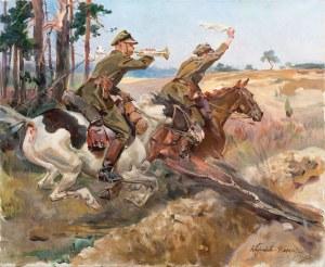 Wojciech Kossak, Nie strzelać!, 1928