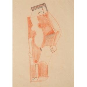 Marek Włodarski Henryk Streng, Akt stojący z głową pochyloną na lewe ramię, 1924-25