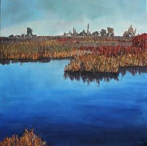 Olena Horhol, Countryside landscape, 2017