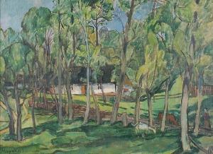 Antoni HAYDER (1905-1990), Mazowiecka zagroda, 1939