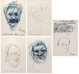 Jerzy PANEK (1918-2001), Zestaw 5 prac - Studia portretowe