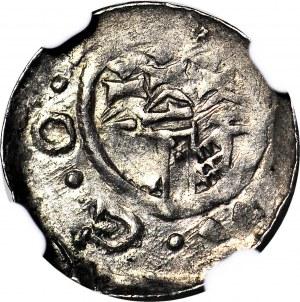 Władysław I Herman 1081-1102, Denar Kraków, druga emisja, połyskowy