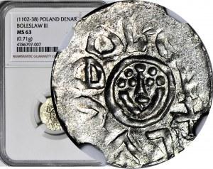 RR-, Bolesław III Krzywousty 1107-1138, denar wrocławski przed 1107, menniczy, R8