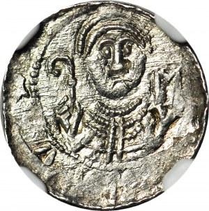 Władysław II Wygnaniec 1138-1146, Denar, książę i biskup, C-N, menniczy
