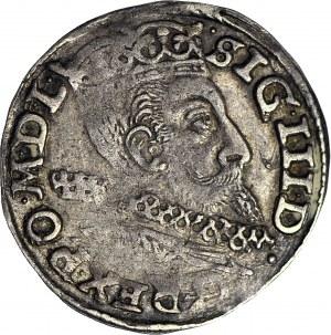 Zygmunt III Waza, Trojak Poznań 1601, bez litery P, rzadki