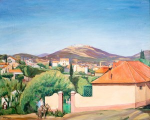 Szymon Mondzain (1888 Chełm - 1979 Paryż) Pejzaż z Fuenterrabíi, ok. 1928 r.