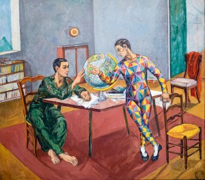 Szymon Mondzain (1888 Chełm – 1979 Paryż) Geografowie, ok. 1955 r.