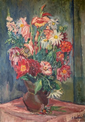 Henryk Epstein (1891 Łódź – 1944 Auschwitz) Martwa natura z kwiatami