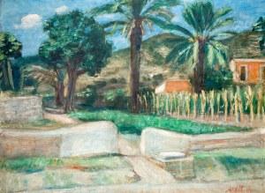 Zygmunt Menkes (1896 Lwów – 1986 Riverdale) Pejzaż z Ibizy, 1935 r.