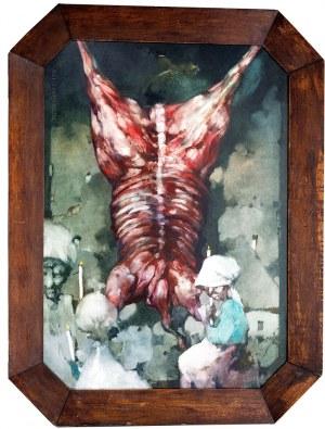Jerzy Duda-Gracz (1941 Częstochowa – 2004 Łagów) Obraz 1318 – Trumienny czyli adoracja o zmierzchu, 1989