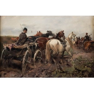 Jan Konarski, PEJZAŻ Z CHŁOPSKIM WOZEM, ok. 1880