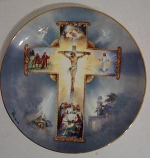 Porcelanowy talerz kolekcjonerski The Life of Christ, Franklin Mint Heirloom Recommendation Collector Plate, Antonio Barzoni, Limited Edition