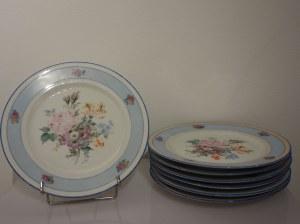 Zestaw porcelanowych talerzyków deserowych z Limoges, Francja