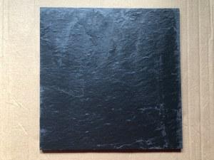 Talerz/taca serwingowa kwadratowa z kamienia łupkowego