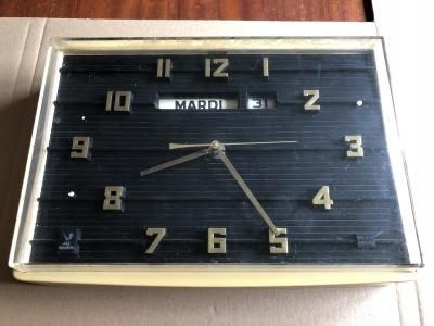 Zegar wskazujący godziny i dni miesiąca marki JAZ, Francja