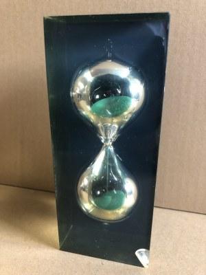 Zegar klepsydra - zielony piasek - 3 minuty