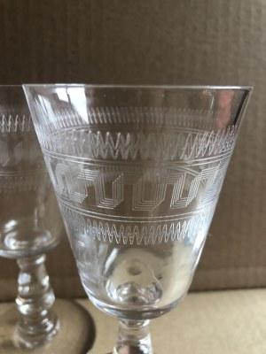 Zestaw ozdobnych, szklanych kieliszków (2 szt.)