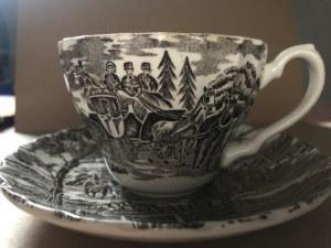 Porcelanowa filiżanka ze spodkiem marki Myott - Royal Mail - Fine Staffordshire Ware, Wielka Brytania