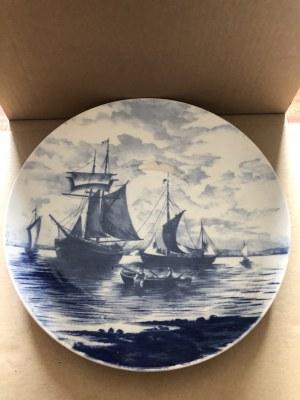 Porcelanowy ozdobny talerz Villeroy & Boch, Niemcy, koniec XIX - pocz. XX w. (?)