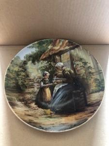 Porcelanowy dekoracyjny talerz marki Wehinger & Co., Austria, ok. 1905-1918 (?)