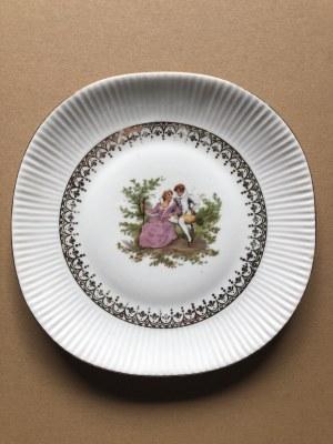 Komplet 3 porcelanowych talerzy dekoracyjnych