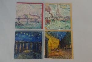 Zestaw pocztówek - postimpresjoniści (Vicent van Gogh, Paul Signac)
