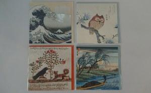 Zestaw pocztówek - sztuka pozaeuropejska (Hiroshige, Katsushika Hokusai, Kubo Shunman, iluminacja arabska)