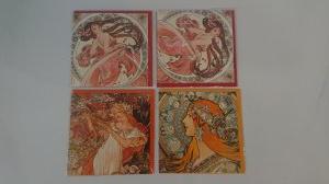 Zestaw pocztówek - Alfons Mucha