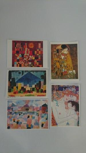 Zestaw pocztówek - Gustav Klimt, Paul Klee