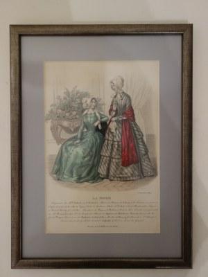 Rycina reklamowa La Mode, 1847