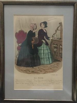 Rycina reklamowa La Mode, 1848