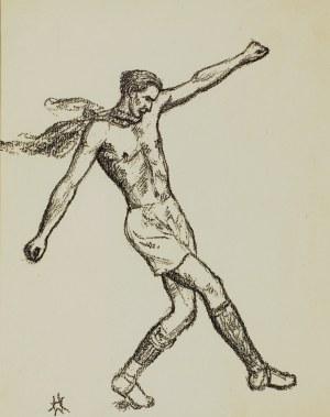 Wlastimil Hofman (1881-1970), Obrona piłki, 1928