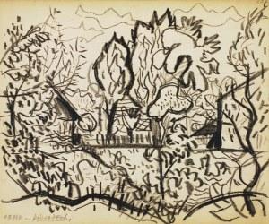 Kazimierz Podsadecki (1904 - 1970), Pejzaż z drzewami - Park, 1.IX.1964