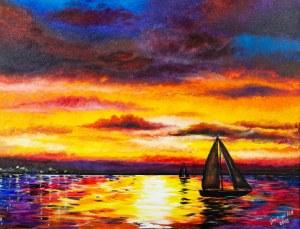 José Angel Hill, Marine sunset