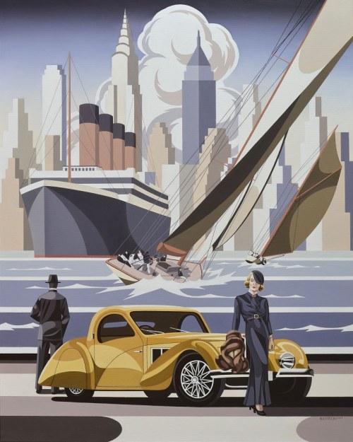 Tomasz Kostecki, Kobieta i żółte Bugatti, 2019