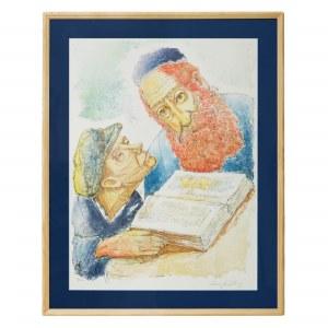 Chaim Goldberg (1917–2004) Rabin i uczeń