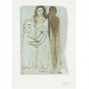 Salvador Dali (1904 – 1989) Ilustracja z Boskiej Komedii: Czyściec, Pieśń XVI