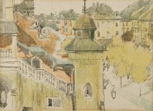 JÓZEF CZAJKOWSKI (1872-1947), Fragment Rynku w Krakowie, 1911