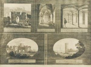 JOHANN FRIEDRICH FRICK (1774-1850), E. GILLY, Malbork - widoki zamku w 5 sekcjach