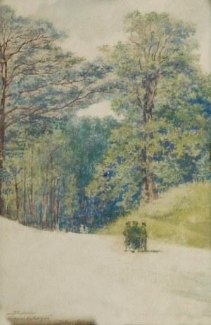 TADEUSZ RYBKOWSKI (1848-1926), Truskawiec - na drodze do Marysi
