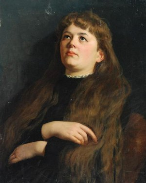 MALARZ NIEOKREŚLONY (XIX/XX W.), Portret młodej kobiety