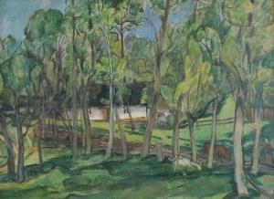 Fryderyk Antoni HAYDER (1905-1990), Mazowiecka zagroda, 1939
