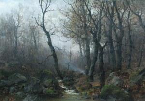 Georg OEDER (1846-1931), Pejzaż jesienny ze strumieniem