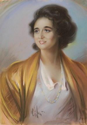 Józef KIDOŃ (1890 Rudzica-1968 Warszawa), Portret Aurelii
