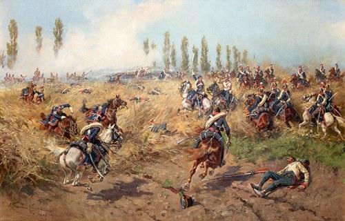 Wojciech Kossak (1856 Paryż – 1942 Kraków) Szwoleżerowie pod Wagram, 1893 r.